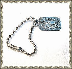 Vintage Silver Fred Harvey Style Key Chain Dog Figural