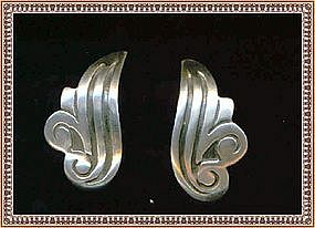 Vintage F. Gutierrez Mexican Sterling Silver Earrings