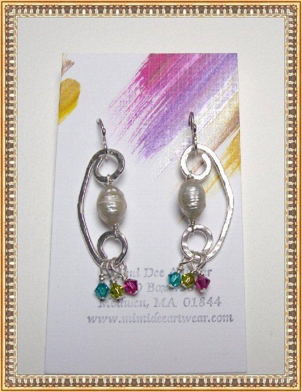 Signed MIMI DEE HANDMADE STERLING Earrings