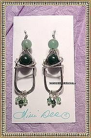 MIMI DEE HANDMADE Hammered Sterling Silver Earrings