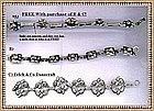 Vintage Sterling Silver Bracelet Trio Felch Co Acorn