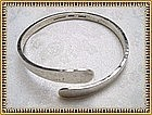 Vintage Mystery Reward Modernist Studio Sterling Silver Bangle