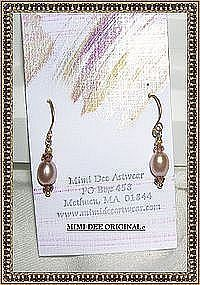 18K Gold Pink Pearl Earrings Pink Sapphires