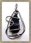 Vintage Modernist Otto R Bade Pin Pendant Sterling