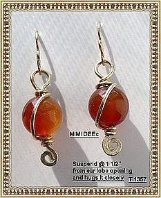 Carnelian Earrings 14K gf