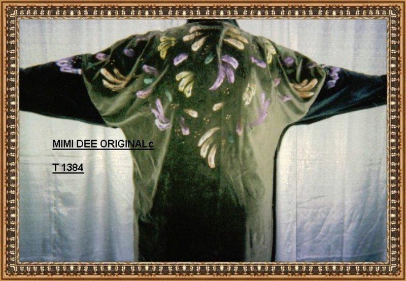 Signed MIMI DEE Art to Wear Jacket Handpainted Velvet