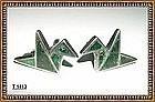Vintage Los Castillo Bird Mosaico Sterling Earrings 15