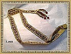 Art Deco Multi Seed bead Flapper Necklace Yellow &