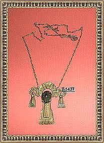 Victorian Egyptian Revival Necklace Scarab Beetle 1870