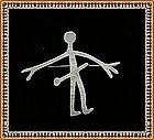 Vintage Modernist A. Dragsted Sterling Silver Pin Man