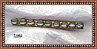 Vintage Saphiret Bar Pin 1900 Art Glass Cabs Gold Gilt