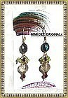 14K Earrings Gold Rutilated Quartz Kyanite Peridot
