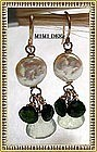 Signed 14K Gold Chrome Diopside Prehnite Earrings