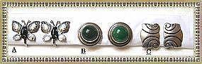 Vintage Sterling Silver Mexican Earrings Butterfly
