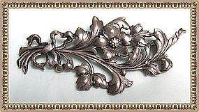 Vintage Signed Guglielmo Cini Sterling Silver Pin Flora