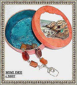 Signed MIMI DEE Sterling Silver Carnelian Bracelet Gems