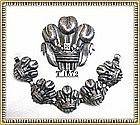Vintage Early Sterling Silver G. Cini Bracelet & Brooch