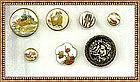 Vintage Antique Satsuma Button Lot & Ivoroid Sarah