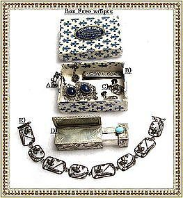 Vintage Assorted 800 Sterling Peruzzi in Box 5pc Lot