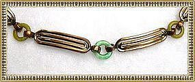 Vintage Art Deco Signed Kollmar & Jourdan Bracelet Rolled Gold