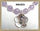 460 Carats Lilac Amethyst Necklace Pendant Sterling Silver