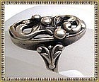 Vintage Signed �M� Danish Sterling Silver Ring