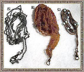 5 Victorian Lorgnette Watch Muff Long Chain Necklace