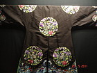 Antique Chinese woman embroidered silk surcoat - Crane
