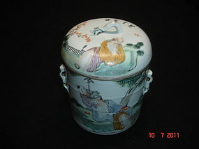 Antique Chinese porcelain rice cooker with Lid