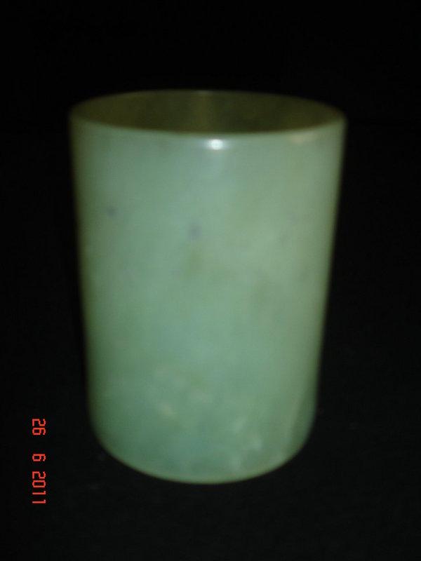 Unique silver, celadon jade, enameled Chinese pagoda