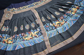 Antique Chinese silk embroidered  court robe - Chaoqun