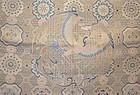 Antique Chinese silk brocade with phoenix roundel panel