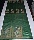 Uncut antique Chinese silk brocade tapestry -Wrap Skirt