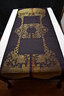 Uncut antique Chinese silk brocade - Xia Pei w/ dragons