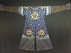 Antique Chinese embroidered summer dragon silk robe - Jifu