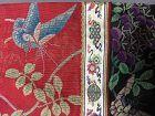 Antique Chinese embroidered silk robe - Changfu, Brick stitch