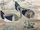 Antique Chinese Cantonese embroidered silk panel #3 广绣百鸟争鸣图光绪乙巳年