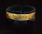 Rare Gold Northwest Coast Haida Bracelet