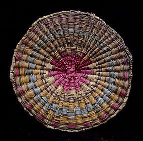 Hopi Wicker Geometric Tray