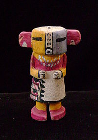 Hopi Polychrome Miniature Kachina with Red Ears