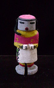 Hopi Polychrome Miniature Kachina with Wool Hair