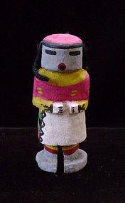 Hopi Polychrome Miniature Kachina with Wool Hair