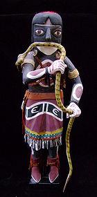 Hopi Polychrome Snake Dance Figure - Chusona