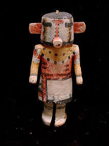 Wilson Tewaquaptewa Hopi Kachina Doll with Wood Ears