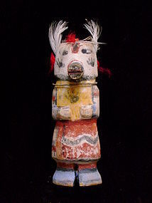 Wilson Tewaquaptewa Hopi Kachina Doll with Feathers