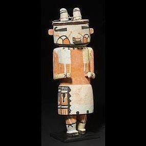 Rare Volz-Type Hopi Two-Horned Kachina Doll
