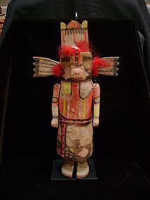 Hopi Tewaquaptewa Kachina w/ Ears & Tableta