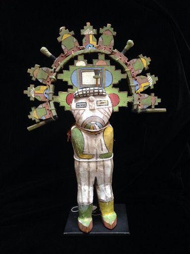 A Rare Polychrome Rio Grande Pueblo Palik Mana Katsina