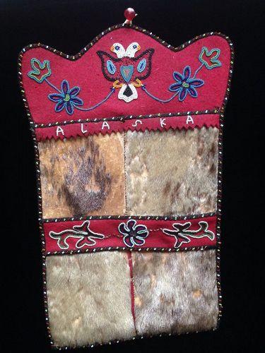 A Beaded Tlingit Wall Pocket