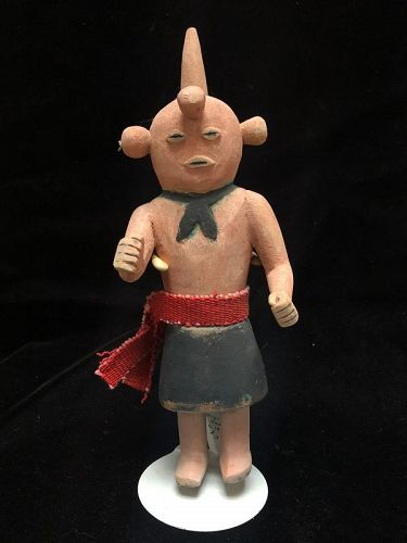 Hopi Polychrome Wood Katsina Doll Koyemsi The Mud Head Clown